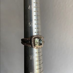 David Yurman Jewelry - David Yurman Ring with Prasiolite and Diamonds